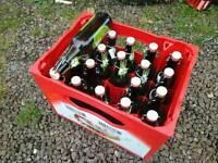 20 Home brew brewing beer making german swing top bottles With Original Beer Crate