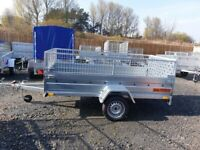 BRAND NEW MODEL 8.7X4.2 SINGLE AXLE TRAILER WITH 40CM MESH WITH RAMP 750KG
