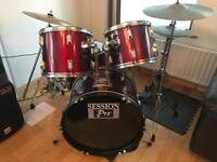 8 PIECE DRUM KIT / STOOL & MUSIC STAND ** BARGAIN £125 **