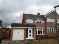 Fens estate Hartlepool , 3 bedroom semi to rent £ 650 pcm