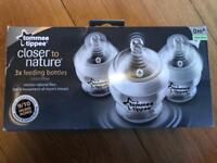 Tommy tippee closer to nature 150ml bottles x 3