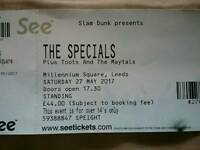 The Specials 1 ticket Millennium Square Leeds Sat 27th May
