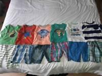 6 sets of shorts and t-shirts