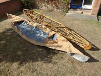 1932 Klepper Blauval folding double canoe, kayak, boat project, with hypalon, canvas and paddles