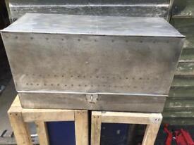 Lovely ornamental old steel box