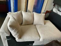 New Dunelm Jasper Chaise Sofa Section Only Right hand Corner Section in Cream Jumbo Cord Fabric