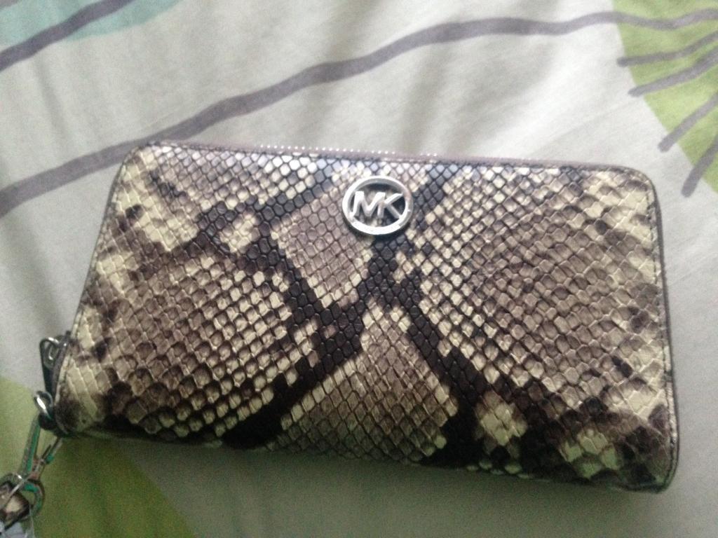 ed261394ac25 Michael Kors snakeskin wristlet.