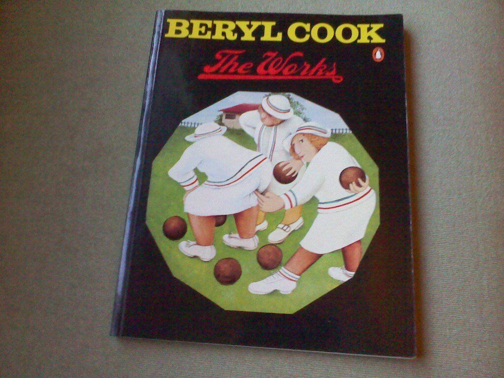 Beryl Cook The Works Art Book and Hand Written and signed Large Postcard.