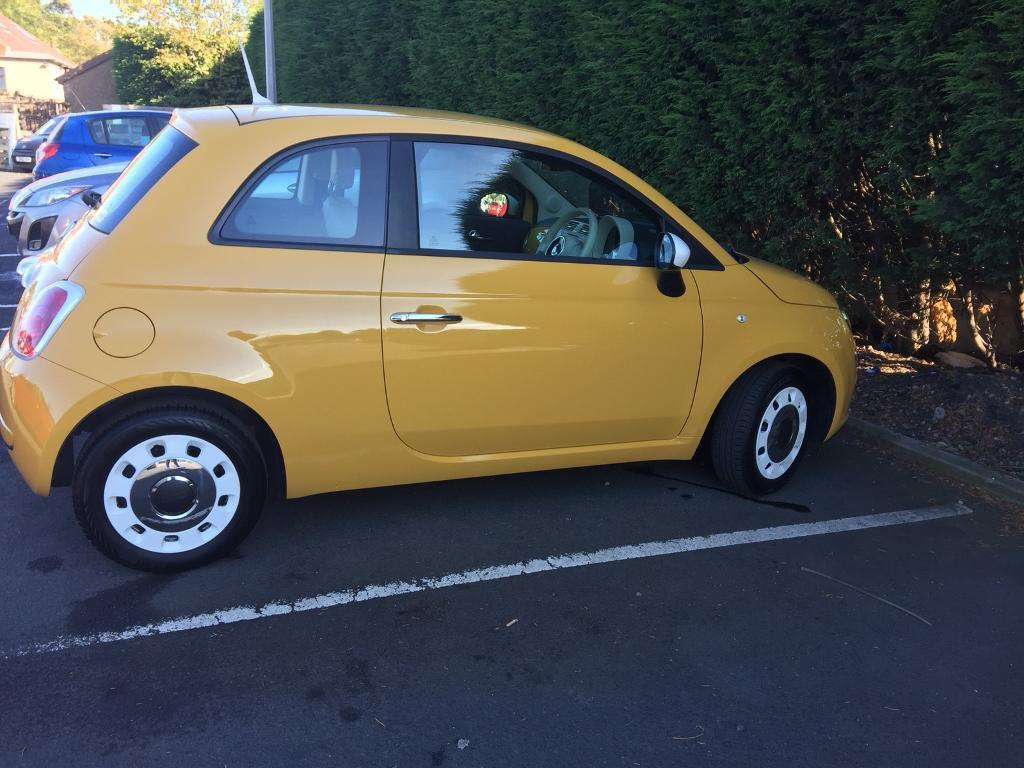 2013 immaculate yellow white fiat 500 limited edition colour therapy fsh mot july 2018 low. Black Bedroom Furniture Sets. Home Design Ideas