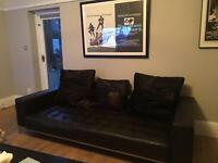 Italian leather sofa in iconic style