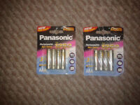 panasonic rechargerble 1350mah batteries for sale £5 for 2packs