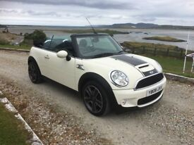 2009 Mini Cooper S Convertible *Pepper White""