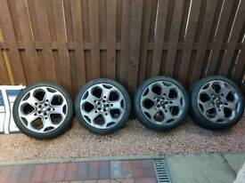 """Ford 18"""" 5 x 108 continental 6mm tyres just refurbished"""
