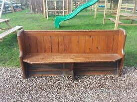 6ft Antique Pine Church Pew Delivery Available