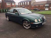 JAGUAR S TYPE 2.5 V6 SE 2003 IN BRITISH RACING GREEN FULL LEATHER LOW MILAGE