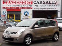2007 57 Nissan Note 1.4 Acenta 69635 miles Fsh with zero deposit finance (subject to status)