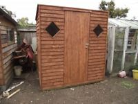 Wooden shed, handmade sturdy construction 6ft x 4ft