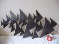 Metal Fish Style Wall Hanging - Ideal for Bathroom
