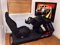 Ricmotech RS1 - Racing Seat Driving Simulator Cockpit Set, Gaming Chair