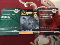 A level revision guides and textbook