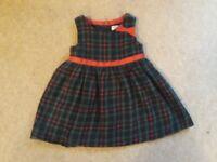 9-12 months girls tartan party dress