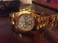 Rolex Daytona watch gold colour no box
