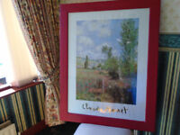 LARGE CLAUDE MONET ILE SAINT MARTIN FRAMED PICTURE, 36 x 28, in GOOD CONDITION