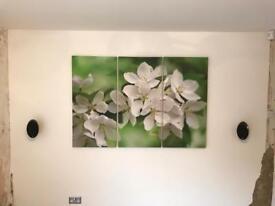 3 piece green canvas