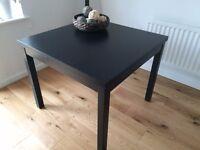 IKEA Bjursta Extendable Dining Table Black-Brown