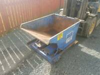 Small forklift tipping skip farm industrial unit building site tractor