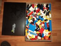 big box of lego loads of bits and all in used condition .