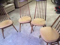 Ercol ding room table and four chairs. Excellent condition.