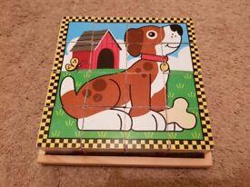 Melissa & Doug - Wooden Cube Puzzle