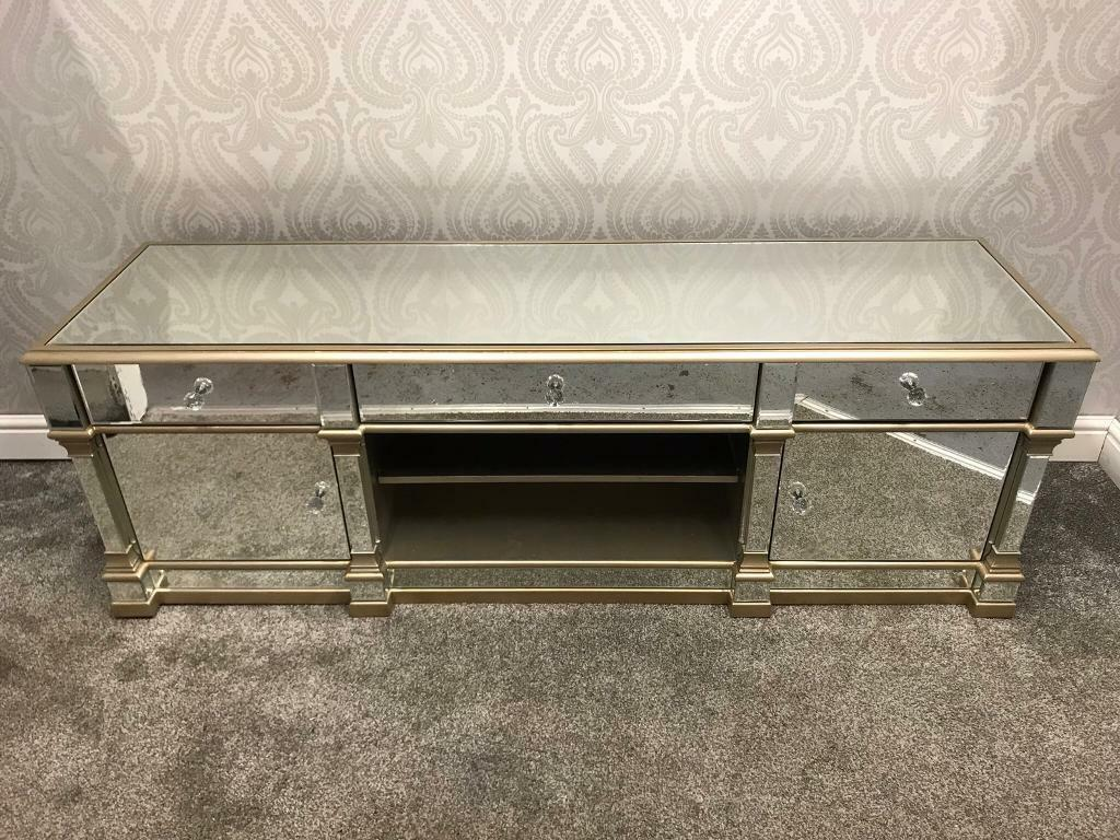 Mirrored Tv Stand A Unit