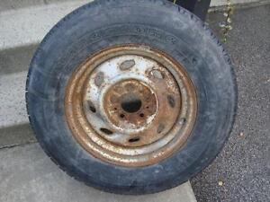 """New Temporary Spare tire on 5X114.3 (4-1/2"""") for trailer 225-70-15"""