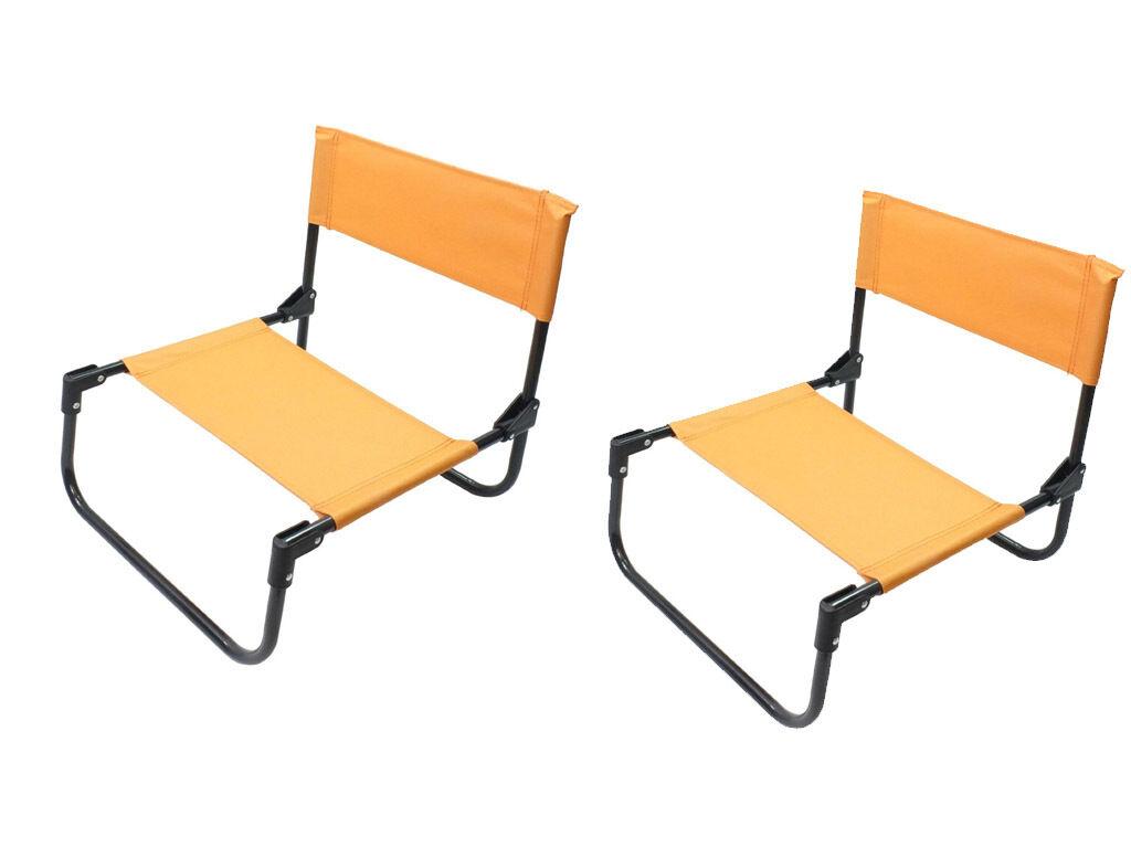 Details About 1 2 Orange Canvas Deck Chair Folding Portable Picnic Beach Garden Bbq Festival