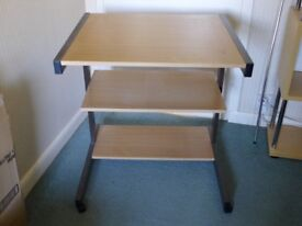 Computer PC Trolley Stand Desk
