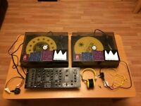 DJ Turntables / Mixer / Headphones - Great Beginner DJ Set Up.