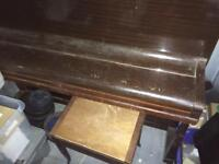 Challen upright piano and stool free to taker
