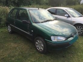 2001 Peugeot 106, 1.1 petrol ENGINE,MANUAL GEARBOX,front BUMPER rear,alternator,tailgate,door,window
