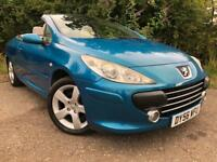 Peugeot 307cc Convertible Full Years Mot No Advisorys Low Mileage Drives Great !!!