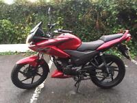 Honda CBF 125 Red, 2014 Only 2100miles