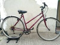 Ladies Legend town & trail hybrid bike in red Bristol Upcycles Used bike shop easton