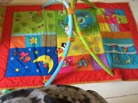 Large twins activity may/ baby gym