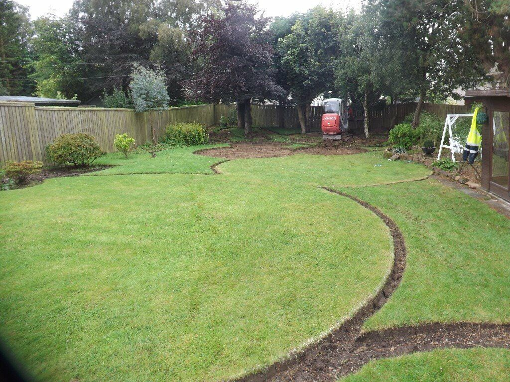 french drainage garden drainage domestic drainage turfing artificial grass - Garden Drainage