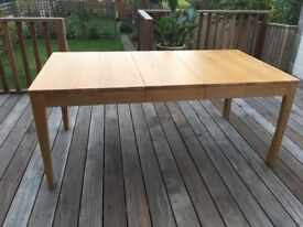 beautiful solid wood extending table in near perfect condition 240 x 95 extends to 280