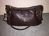 Brown ladies Prada handbag