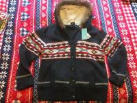 Brand New With Tags £85 heavy winter Coat/Cardigan by Animal