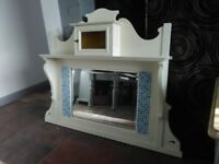 Large mantle wall mirror shabby chic