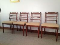 4 beautiful dining chairs from Shah of Lincoln, upholstered seating - as new